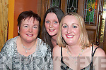 ENJOY: Duagh girls enjoying women's Christmas in Leen's Hotel Abbeyfeale on Saturday night were Karen, Christina and Jennifer Kirby.   Copyright Kerry's Eye 2008