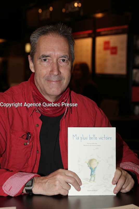 Gilles Tibo<br /> <br />  at montreal book fair, November 2015,<br /> <br /> <br /> PHOTO : Pierre Roussel<br />  - Agence Quebec Presse