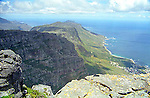One of several spectacular views of the coast from on top of Table Mountain, Cape Town, South Africa