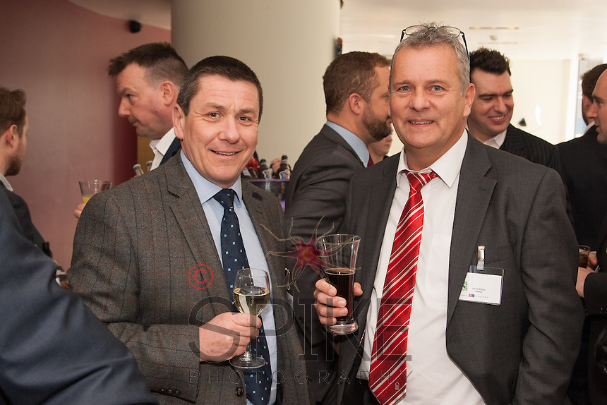 Nigel Rowlson of The Dairy Marketing and Design is pictred with Ian MacKinlay of Gleeds
