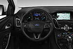 Car pictures of steering wheel view of a 2017 Ford Focus Titanium 4 Door Sedan Steering Wheel