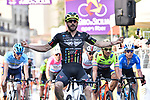 Riccardo Stacchiotti (ITA) Giotti Victoria-Palomar Continental team wins Stage 1 of Il Giro di Sicilia running 165km from Catania to Milazzo, Italy. 3rd April 2019.<br /> Picture: LaPresse/Fabio Ferrari | Cyclefile<br /> <br /> <br /> All photos usage must carry mandatory copyright credit (© Cyclefile | LaPresse/Fabio Ferrari)