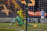 Mohammed Eisa of Cheltenham Town cooly finishes to score the visitors fourth goal during Colchester United vs Cheltenham Town, Sky Bet EFL League 2 Football at the Weston Homes Community Stadium on 6th January 2018