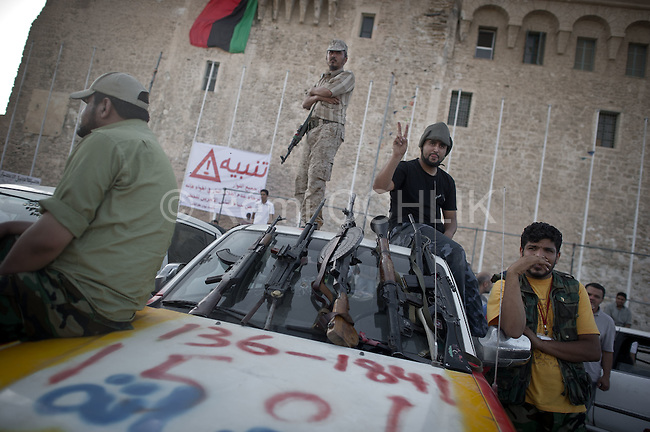 Remi OCHLIK/IP3 PRESS - On august, 28, 2011 In Tripoli - On green square people still celebrate the fall of Tripoli and the end of the 42 years old dictature
