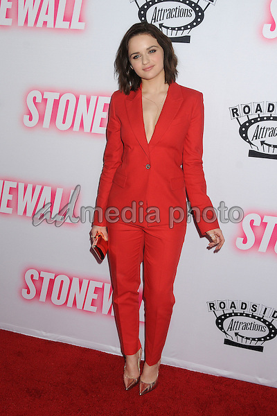 """23 September 2015 - West Hollywood, California - Joey King. """"Stonewall"""" Los Angeles Premiere held at the Pacific Design Center. Photo Credit: Byron Purvis/AdMedia"""