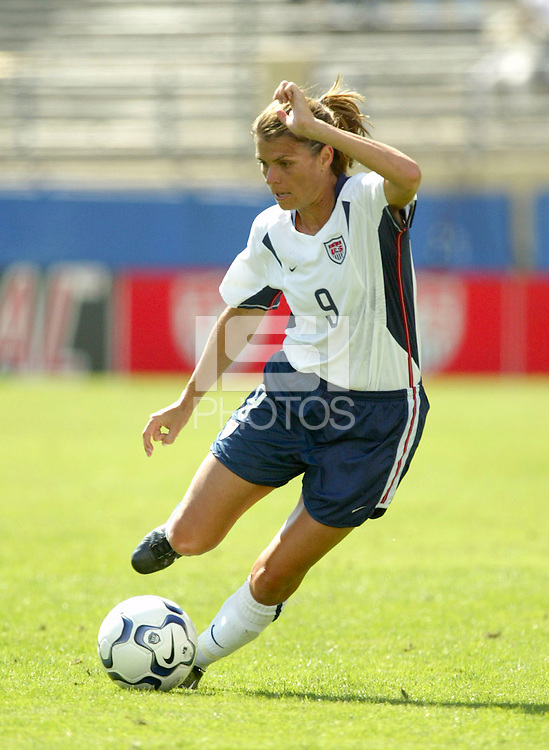 Mia Hamm, USWNT vs. Mexico, September 7, 2003.