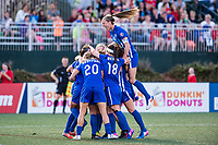 Boston, MA - Saturday April 29, 2017: Boston Breakers celebrate a goal during a regular season National Women's Soccer League (NWSL) match between the Boston Breakers and Seattle Reign FC at Jordan Field.