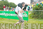 Anita Mcgrath (Limerick) and Conor O'Gorman (Tipperary) who took part in the wife-carrying championships in Sneem this weekend.