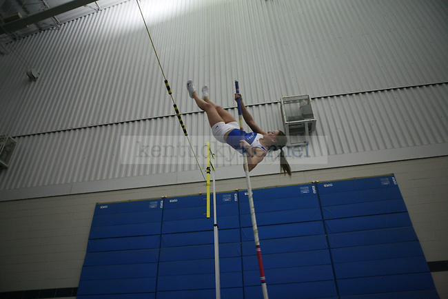 Samantha Stenzel is a UK student and pole vaulter for the UK Track and Field team. She practice on Friday, March 5, 2010.