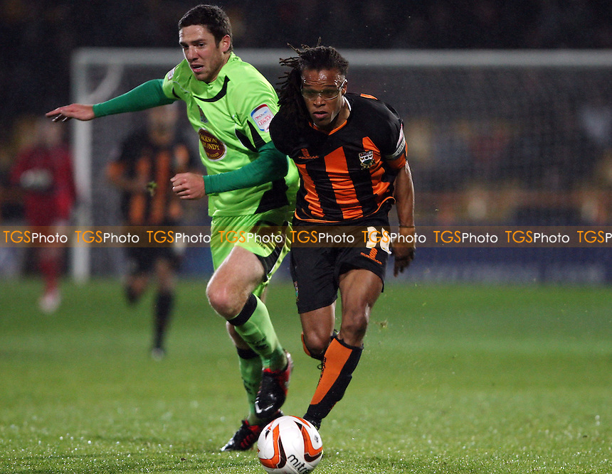 Edgar Davids of Barnet - Barnet vs Northampton Town, nPower League 2 at Underhill Stadium, Barnet - 19/10/12 - MANDATORY CREDIT: Rob Newell/TGSPHOTO - Self billing applies where appropriate - 0845 094 6026 - contact@tgsphoto.co.uk - NO UNPAID USE.