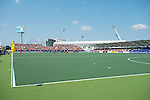 The Hague, Netherlands, June 01: GreenFields Stadium during halftime during the field hockey group match (Women - Group B) between Germany and China on June 1, 2014 during the World Cup 2014 at GreenFields Stadium in The Hague, Netherlands. Final score 1:1 (0:0) (Photo by Dirk Markgraf / www.265-images.com) *** Local caption ***