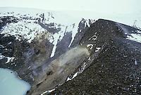 Volcanic crater and Viti Lake of Askja, Iceland.