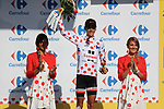 Warren Barguil (FRA) Team Sunweb wins the stage and retains the Polka Dot Jersey at the end of Stage 18 of the 104th edition of the Tour de France 2017, running 179.5km from Briancon to the summit of Col d'Izoard, France. 20th July 2017.<br /> Picture: Andy Brady | Cyclefile<br /> <br /> All photos usage must carry mandatory copyright credit (&copy; Cyclefile | Andy Brady)