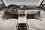 Stock photo of straight dashboard view of 2016 BMW 7-Reeks-Berline 4 Door Sedan Dashboard