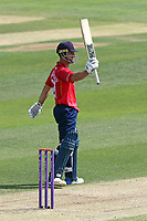 Ryan ten Doeschate celebrates scoring a half-century, 50 runs during Essex Eagles vs Notts Outlaws, Royal London One-Day Cup Semi-Final Cricket at The Cloudfm County Ground on 16th June 2017