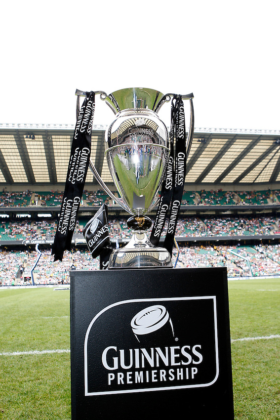 Photo: Richard Lane/Richard Lane Photography. .Leicester Tigers v London Wasps. Guinness Premiership Final. 31/05/2008. Guinness Premiership Trophy.