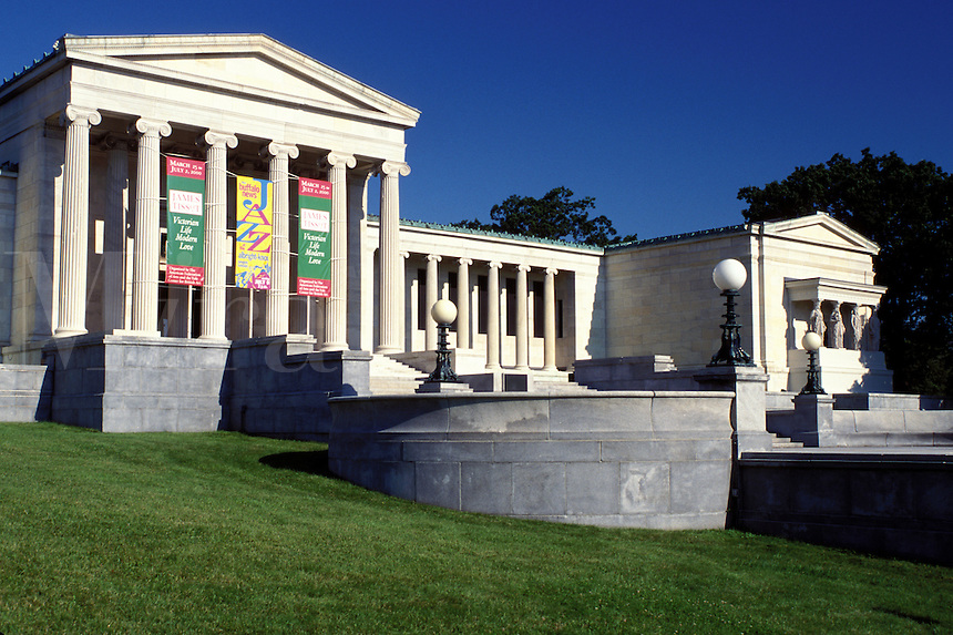 art museum, Buffalo, NY, New York, Albright-Knox Art Gallery a Greek Revival building.