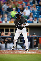 Quad Cities River Bandits center fielder Daz Cameron (16) squares around to bunt during a game against the Lake County Captains on May 6, 2017 at Modern Woodmen Park in Davenport, Iowa.  Lake County defeated Quad Cities 13-3.  (Mike Janes/Four Seam Images)