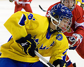 Jacob Josefson (Sweden - 26), Adam Polasek (Czech Republic - 3) - Sweden defeated the Czech Republic 4-2 at the Urban Plains Center in Fargo, North Dakota, on Saturday, April 18, 2009, in their final match of the 2009 World Under 18 Championship.