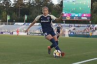Cary, North Carolina  - Wednesday April 18, 2018: Jaelene Hinkle during a regular season National Women's Soccer League (NWSL) match between the North Carolina Courage and the Seattle Reign FC at Sahlen's Stadium at WakeMed Soccer Park.