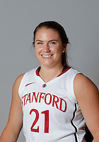 Sara James with Stanford Women's basketball team. Photo taken on Wednesday, October 2, 2013