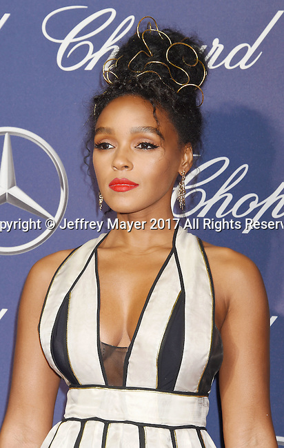 PALM SPRINGS, CA - JANUARY 02: Actress/singer Janelle Monae attends the 28th Annual Palm Springs International Film Festival Film Awards Gala at the Palm Springs Convention Center on January 2, 2017 in Palm Springs, California.