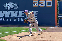 University of Washington Huskies Lucas Knowles (29) warms up in the bullpen prior to the game against the Cal State Fullerton Titans at Goodwin Field on June 08, 2018 in Fullerton, California. The University of Washington Huskies defeated the Cal State Fullerton Titans 8-5. (Donn Parris/Four Seam Images)