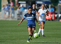Kansas City, MO - Sunday August 28, 2016: Lo'eau LaBonta during a regular season National Women's Soccer League (NWSL) match between FC Kansas City and the Boston Breakers at Swope Soccer Village.