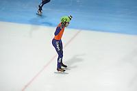 SCHAATSEN: DORDRECHT: Sportboulevard, Korean Air ISU World Cup Finale, 12-02-2012, Finish Final Relay Men, Sjinkie Knegt NED (62), ©foto: Martin de Jong