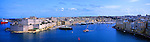 Malta Panorama - View over the harbour in Valletta, Malta<br />