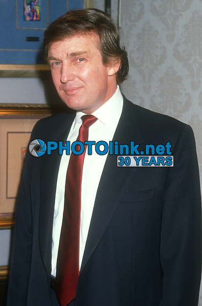 Donald Trump <br /> 1980s<br /> Photo By Michael Ferguson/CelebrityArchaeology.com