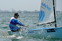 Finn / Nick Heiner (NED)<br /> ISAF Sailing World Cup Final - Melbourne<br /> St Kilda sailing precinct, Victoria<br /> Port Phillip Bay Tuesday 6 Dec 2016<br /> &copy; Sport the library / Jeff Crow