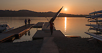 Varese. Lombardia. ITALY. General View.  Sun Set, Crewsreturning from afternoon Training on Lake/Lago Varies. [Varese Rowing Club]. [Canottieri Varese]<br /> <br /> Tuesday  03/01/2017<br /> <br /> [Mandatory Credit; Peter Spurrier/Intersport-images]<br /> <br /> <br /> LEICA CAMERA AG - LEICA Q (Typ 116) - 1/5000 - f2.8