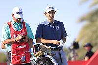 Patrick Cantlay (USA) during the 3rd round of the Abu Dhabi HSBC Championship, Abu Dhabi Golf Club, Abu Dhabi,  United Arab Emirates. 18/01/2020<br /> Picture: Fran Caffrey | Golffile<br /> <br /> <br /> All photo usage must carry mandatory copyright credit (© Golffile | Fran Caffrey)
