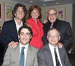 (clockwise from top left) Sean Hartley, Michele Pawk and Henry Krieger pose for photos with 2013 Kleban Prize winners, Alan Gordon and Daniel Mate attending the 23rd Annual Kleban Prize Reception at ASCAP on June 24, 2013 in New York City.