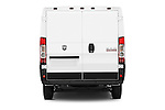 Straight rear view of2014 Ram Promaster 1500 136 WB Low Roof 3 Door Cargo Van Rear View  stock images