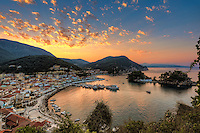 Sunrise in the bay of Parga, Greece