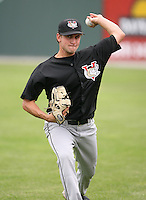 2007:  Kevin Fox of the Tri-City Valley Cats, Class-A affiliate of the Houston Astros, during the New York-Penn League baseball season.  Photo by Mike Janes/Four Seam Images