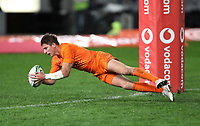DURBAN, SOUTH AFRICA - JULY 14: Sebastian Cancelliere of the Jaguares during the Super Rugby match between Cell C Sharks and Jaguares at Jonsson Kings Park on July 14, 2018 in Durban, South Africa. Photo: Steve Haag / stevehaagsports.com