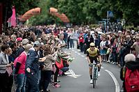 Primoz Roglic (SVK/Jumbo-Visma) at the race start in Ivrea<br /> <br /> Stage 15: Ivrea to Como (232km)<br /> 102nd Giro d'Italia 2019<br /> <br /> ©kramon