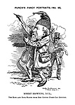 Punch's Fancy Portraits. - No. 93. Robert Browning, D. C. L., The Ring and Book-Maker from Red Cotton Night-Cap Country.