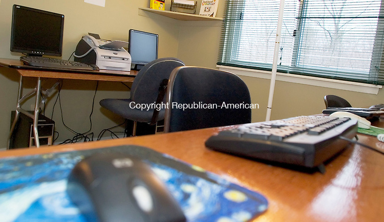 TORRINGTON, CT- 15 MARCH 07- 031507JT06- <br /> A computer room in the office of Northside Terraces in Torrington will soon be available to help children with their homework and to be used by other members of the community. The federally subsidized housing project recently earned a national quality award.<br /> Josalee Thrift Republican-American