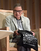Associate Justice of the Supreme Court of the United States Ruth Bader Ginsburg prepares to depart after appearing at Adas Israel Congregation in Washington, DC on Thursday, February 1, 2018.<br /> Credit: Ron Sachs / CNP