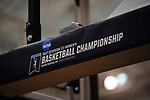 GRAND RAPIDS, MI - MARCH 18: The Division III Women's Basketball Championship logo is on display at Van Noord Arena on March 18, 2017 in Grand Rapids, Michigan. Amherst defeated 52-29 for the national title. (Photo by Brady Kenniston/NCAA Photos via Getty Images)
