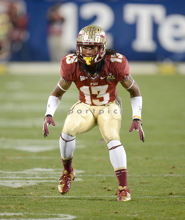Florida State Seminoles Ronald Darby (13) in action during the 2012 ACC Championship game against Georgia Tech on December 1, 2012 at Bank of America Stadium in Charlotte, NC. Florida State beat Georgia Tech 21-15.
