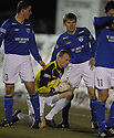 04/12/2010   Copyright  Pic : James Stewart.sct_jsp011_allao_v_peterhead  .:: PETERHEAD KEEPER JON BATEMAN IS CONGRATULATED AFTER HIS DOUBLE SAVE LATE ON IN THE SECOND HALF ::.James Stewart Photography 19 Carronlea Drive, Falkirk. FK2 8DN      Vat Reg No. 607 6932 25.Telephone      : +44 (0)1324 570291 .Mobile              : +44 (0)7721 416997.E-mail  :  jim@jspa.co.uk.If you require further information then contact Jim Stewart on any of the numbers above.........