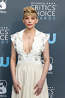Haley Bennett attends the 23rd Annual Critics' Choice Awards at Barker Hangar in Santa Monica, Los Angeles, USA, on 11 January 2018. Photo: Hubert Boesl - NO WIRE SERVICE - Photo: Hubert Boesl/dpa /MediaPunch ***FOR USA ONLY***