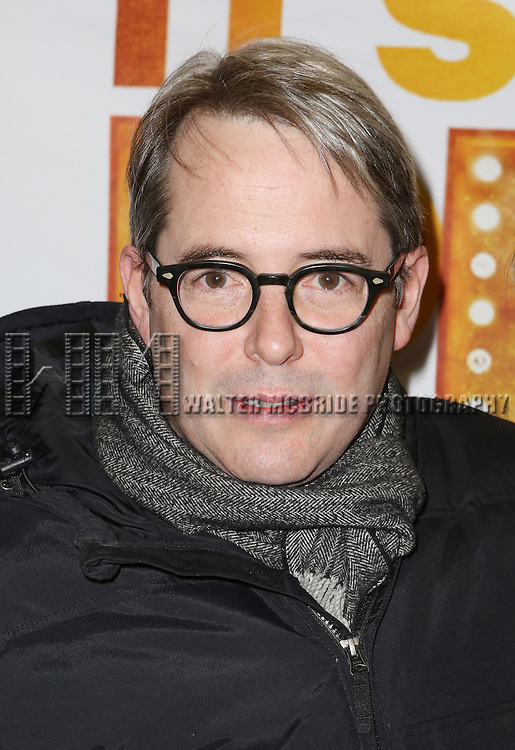 Matthew Broderick and the cast from 'It's Only A Play' head to their new home at the Bernard B. Jacobs Theatre on January 23, 2014 in New York City.