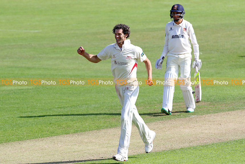 Charlie Shreck of Leicestershire celebrates taking the wicket of Matt Salisbury - Essex CCC vs Leicestershire CCC - LV County Championship Division Two Cricket at the Essex County Ground, Chelmsford, Essex - 02/06/15 - MANDATORY CREDIT: Gavin Ellis/TGSPHOTO - Self billing applies where appropriate - contact@tgsphoto.co.uk - NO UNPAID USE