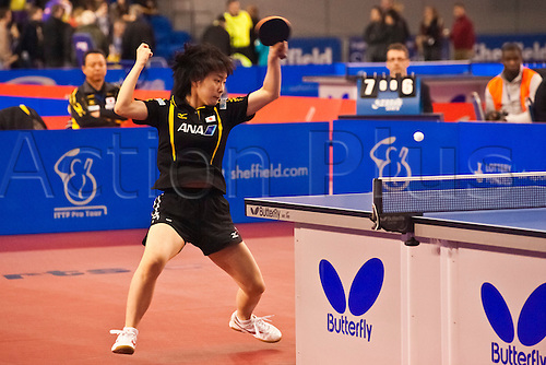 29.01.2011 English Open ITTF Pro Tour Table Tennis from the EIS in Sheffield. Kasumi Ishikawa of Japan